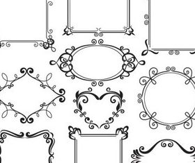 Stylish Vintage Frames 10 vectors
