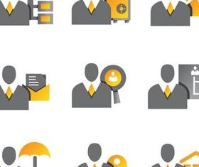 Business People Icons 2 vector graphic