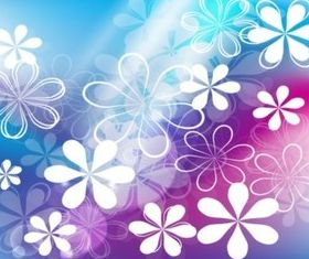 Cute Flowers Background vectors graphics