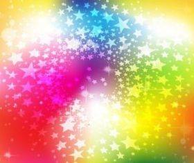 Bright Rainbow Stars Background vector
