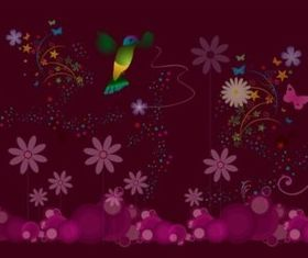 Nature Celebration Background set vector