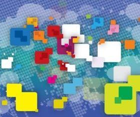Digital Shapes background vector