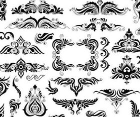Ornate Floral Elements (Set 15) vector