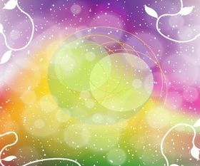 Rainbow Fantasy Background vector material