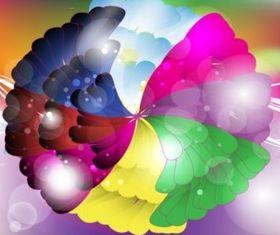 Rainbow Flower Design vector graphics