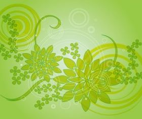 Green Flower Design design vectors