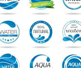 Shiny AquLabels design vectors