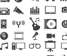 Medi Grey Icons vector
