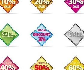 Creative Discount Elements vector graphic