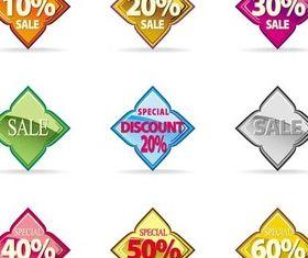 Creative Discount Elements vector graphic