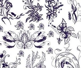 Ornate Floral Elements (Set 14) vectors