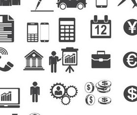 Business Icons 7 vector graphics