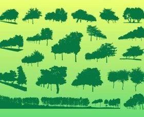 Free Trees vector design