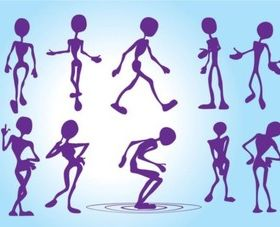 Funny Silhouettes vector