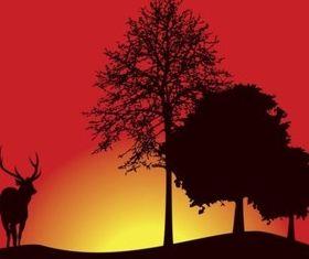 Deer Silhouette creative vector