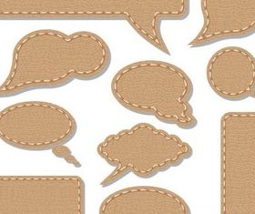 Leather Speech Bubbles art vector