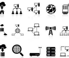 Network Icons 2 vectors material