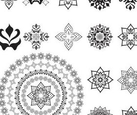 Circle Ornate Elements art vector