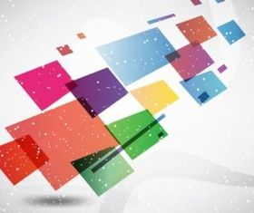 Colorful Boxes Background vector set