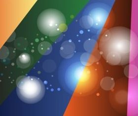 Colored Rays Circles Background vector design