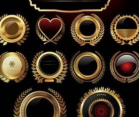 Gold Coronal Elements art vector