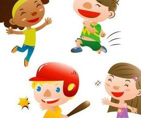 Cartoon Cute Children vector