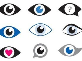 Eyes Logotypes vectors