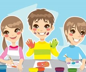 Cartoon Backgrounds vector