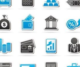 Paper Business Icons art vector