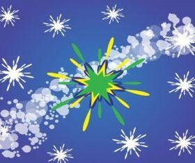 Green Star Background Design design vectors