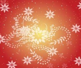Warm Red Flower Background Illustration vector