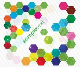 Colorful Hexagon Background vector