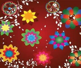 Colorful Floral Design Footage vector graphics
