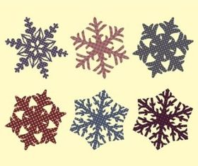 Fabric Snowflakes vector graphic