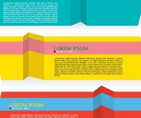 Colorful Origami Banners art vector