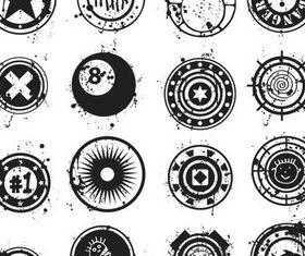 Grunge Style Symbols vectors graphic