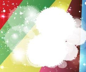 Rainbow Starburst Background shiny vector