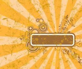 Orange Grunge Template vectors