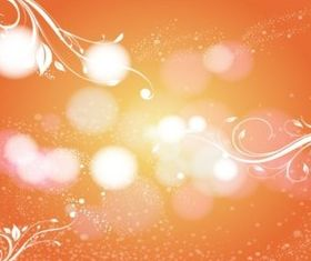 Orange Scroll Background Image vector