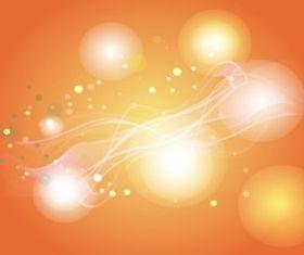 Orange Light Circles Background vector graphics