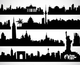 Cityscapes vector graphic