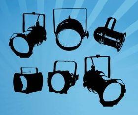 Spotlights Illustration vector