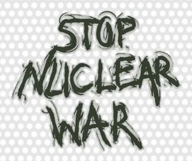 Stop Nuclear Poster Illustration vector