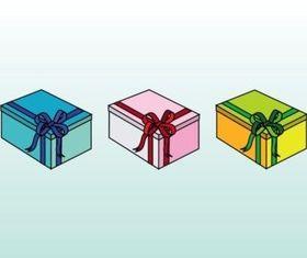 Colorful Birthday Presents design vectors