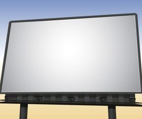 Realistic Billboard set vector