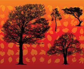 Leaf Silhouettes vectors graphic