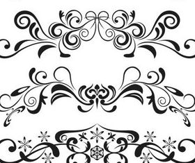 Ornate Floral Elements (Set 13) design vectors