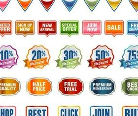 Color Badge graphic vector material