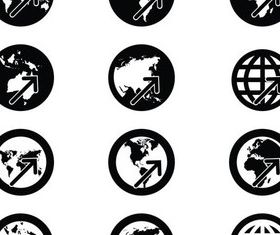 Economical Icons vectors graphic