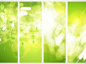 Green Eco Banners art vector graphics